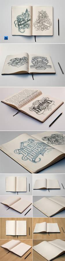 Sketch Book Mockups