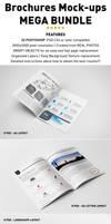 Photorealistic Brochure Mockups Bundle Templates