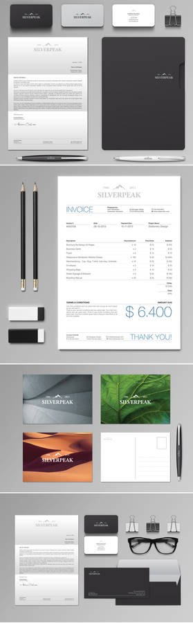 Silverpeak Stationery + Invoice