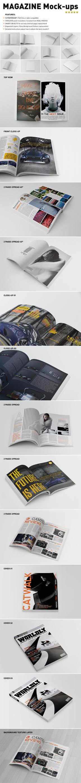 Photorealistic Magazine Mockups by andre2886
