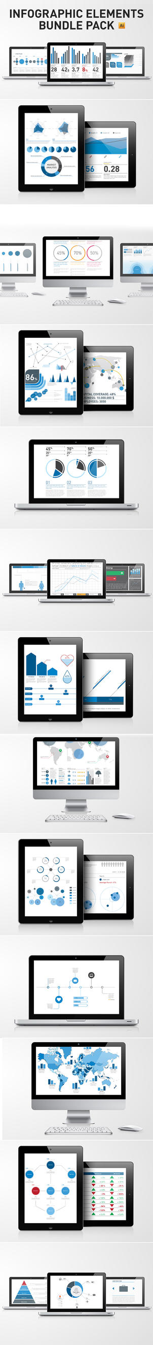 Infographic Elements Template Bundle Pack by andre2886