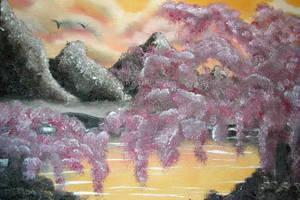 Cherry Blossom at Sunset by goddesstll
