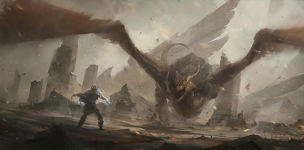 Dragon in Ruins by wwudesign