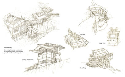 Village Sketch by wwudesign