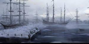 Boston Port Fog by wwudesign