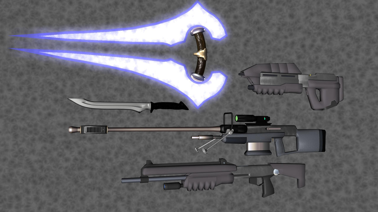 HALO Weapons by korblborp on DeviantArt