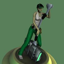 Jade's Hammer by korblborp