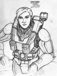 Inktober - Portrait of a Spartan as a young woman