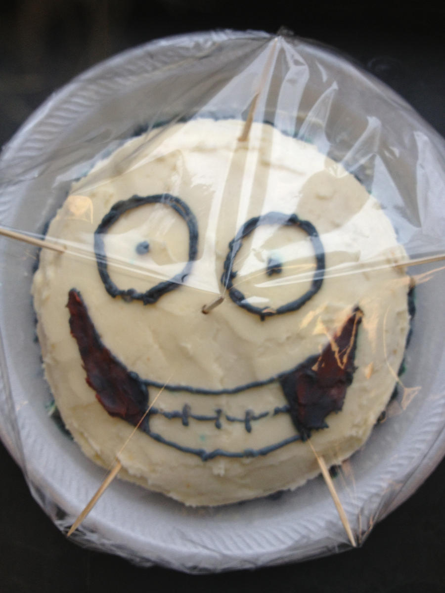 Jeff the Killer cake - in the wrap by Death-Rain18