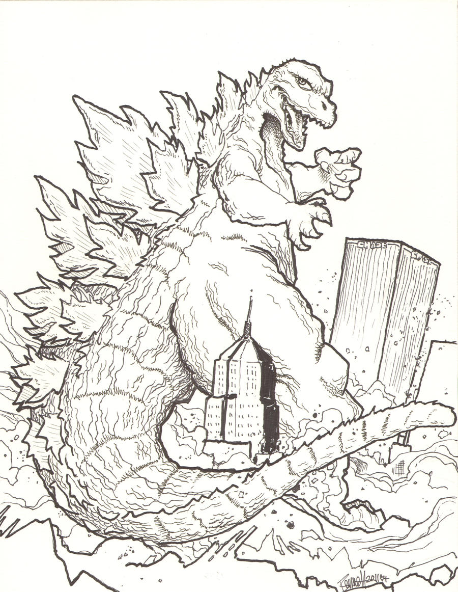 burning godzilla coloring pages coloring pages