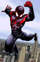 Ultimate Spider-Man Color by artistjerrybennett