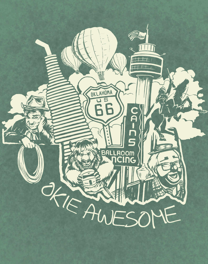 Okie Awesome by artistjerrybennett