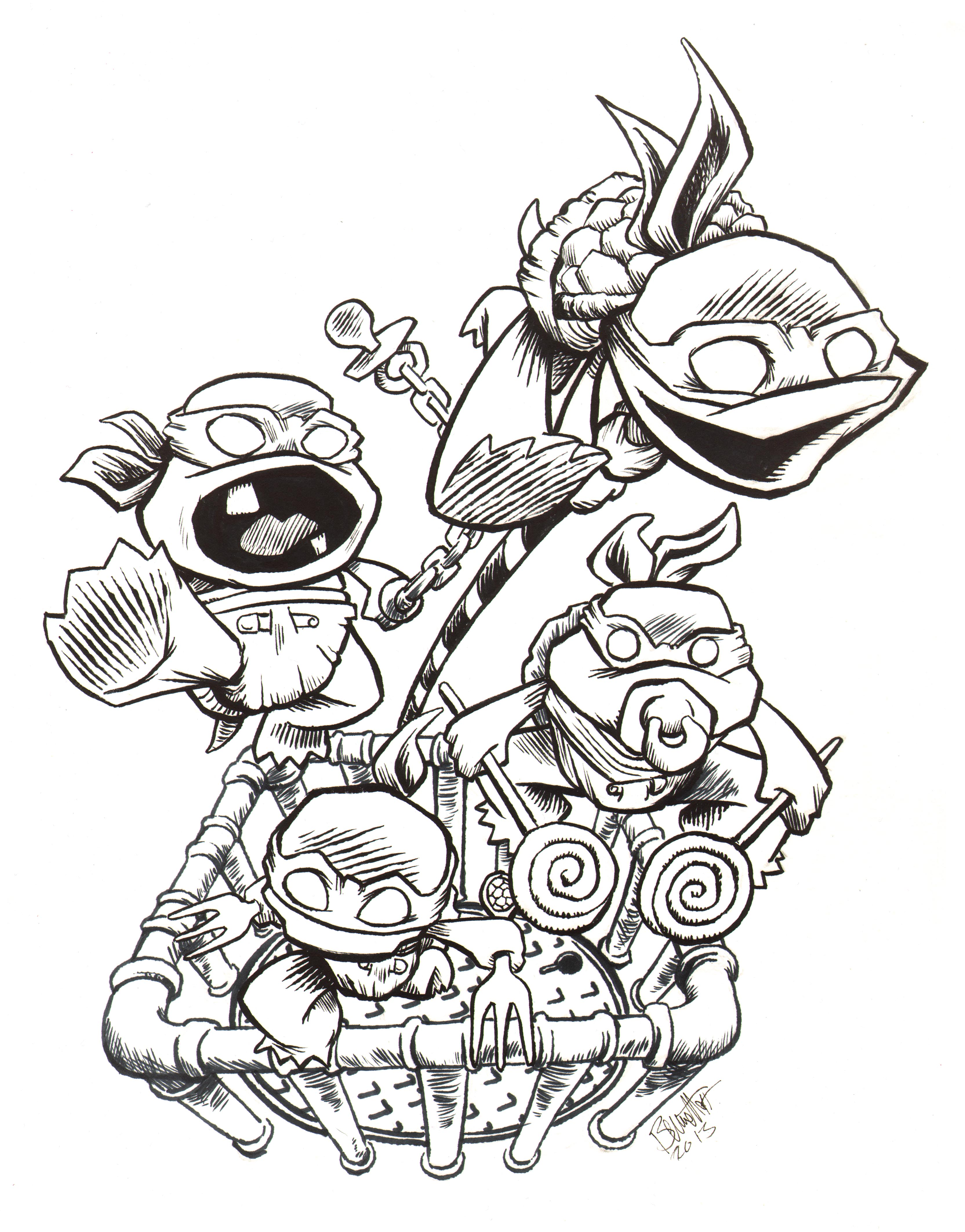Toddler Mutant Ninja Turtles by artistjerrybennett on ...