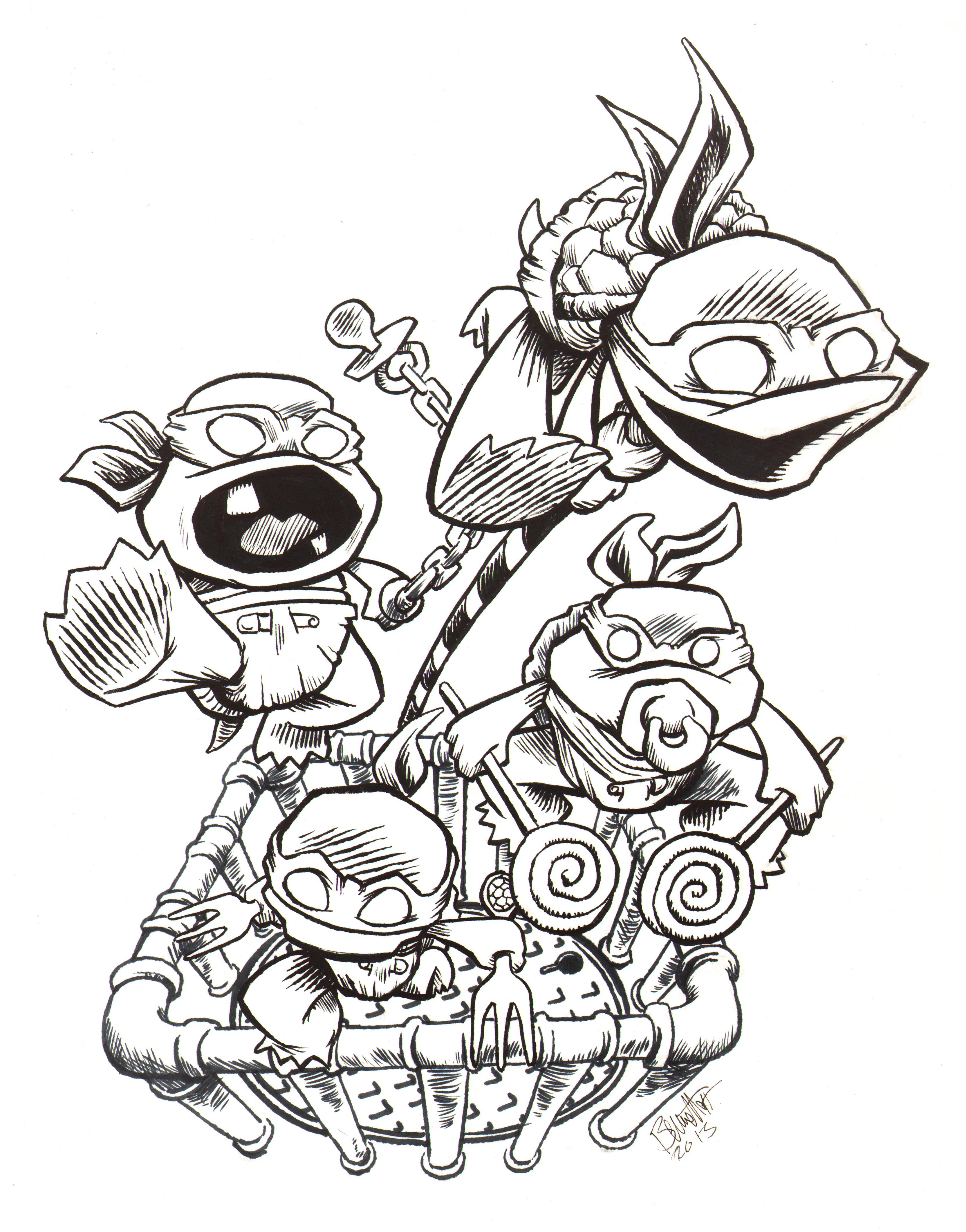 Toddler Mutant Ninja Turtles by artistjerrybennett on ...