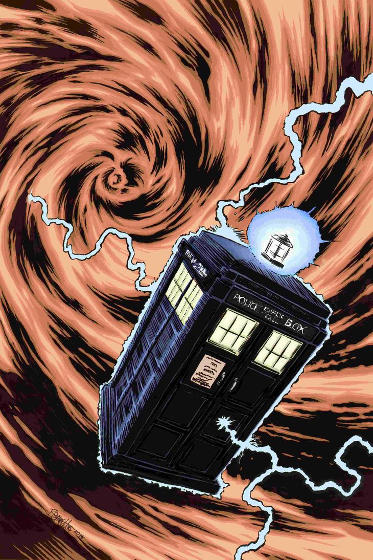 TARDIS in Color by artistjerrybennett