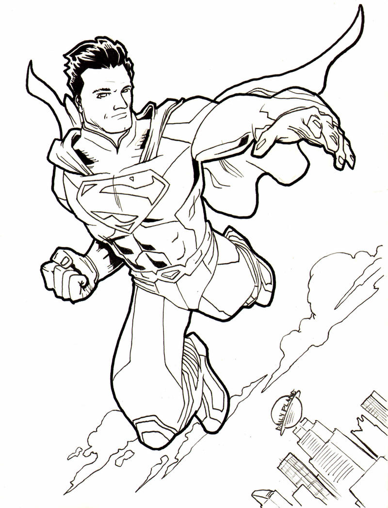 Superman Coloring Pages New 52