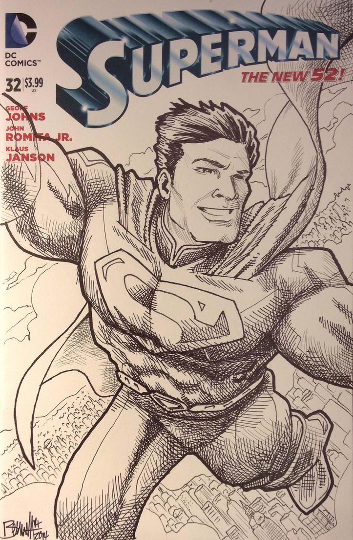 Superman Variant Cover by artistjerrybennett