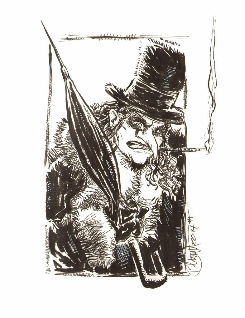 Batman Returns Penguin by artistjerrybennett