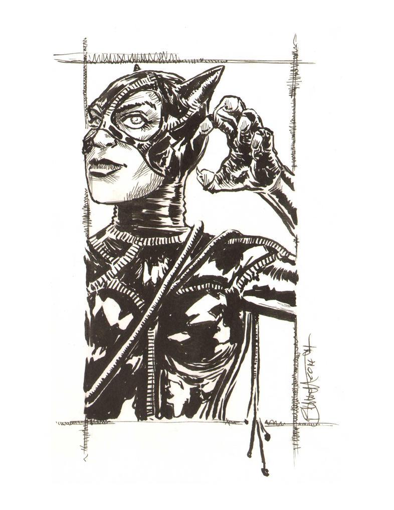 Batman Returns Catwoman by artistjerrybennett