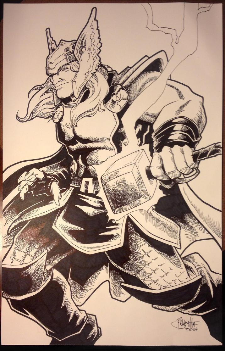 Thor Commission by artistjerrybennett