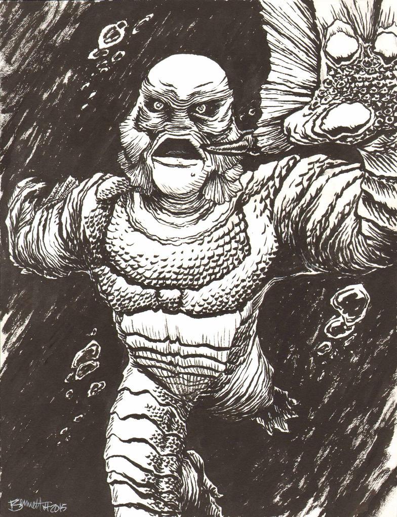 Creature From The Black Lagoon by artistjerrybennett
