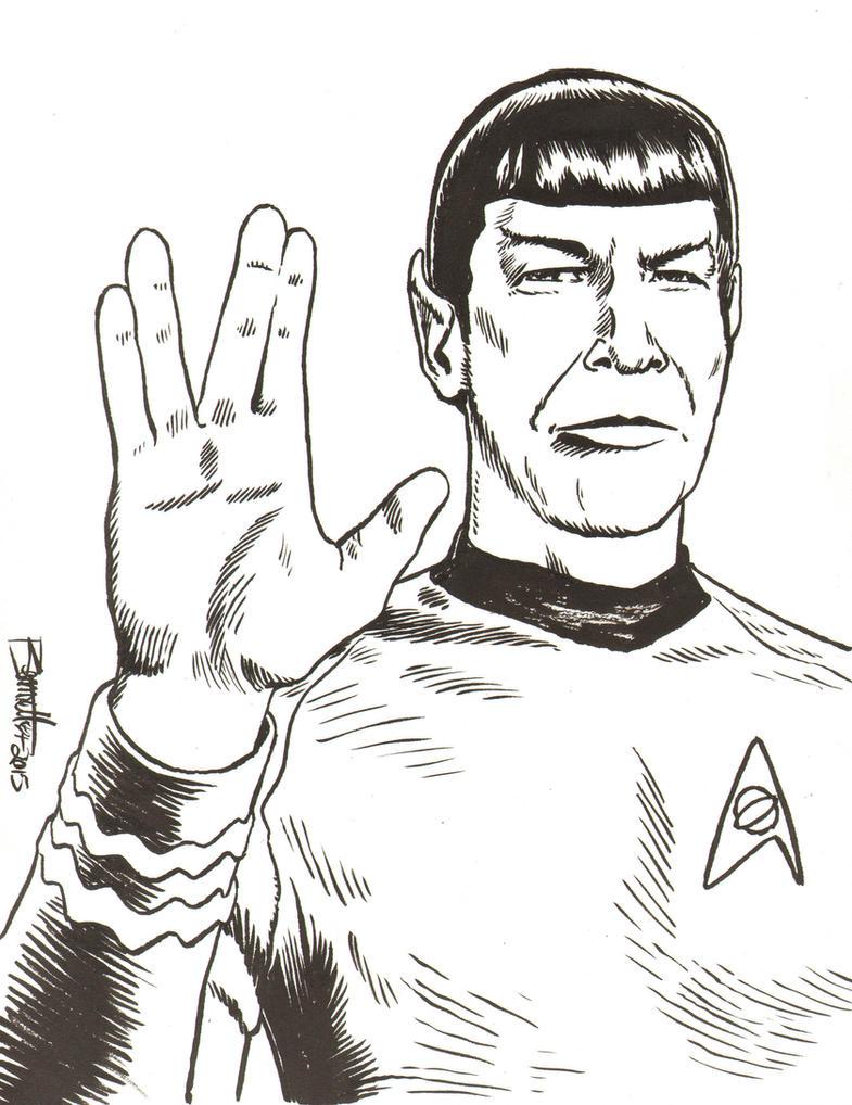 Mr. Spock by artistjerrybennett