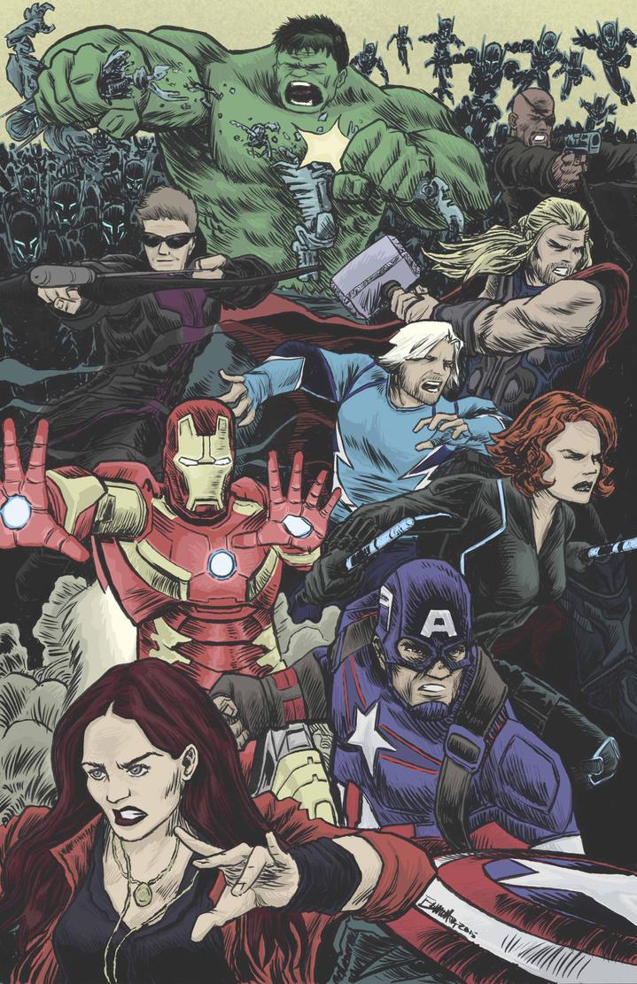 Avengers Age of Ultron by artistjerrybennett