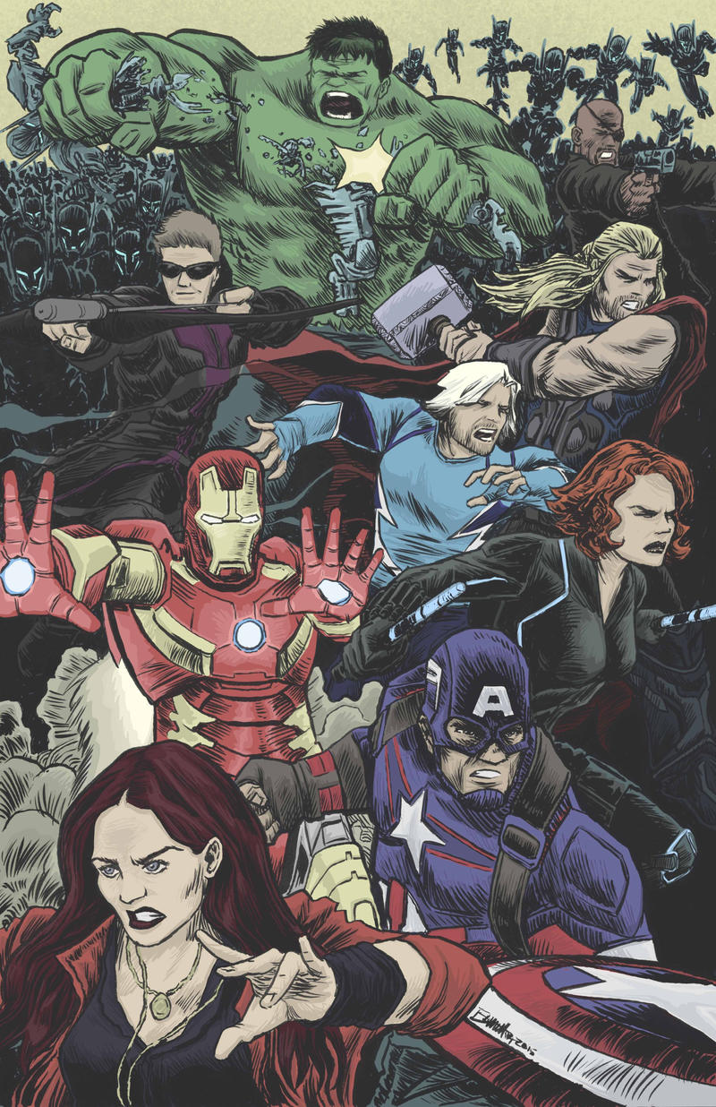 Avengers Age Of Ultron By Iloegbunam On Deviantart: Avengers Age Of Ultron By Artistjerrybennett On DeviantArt