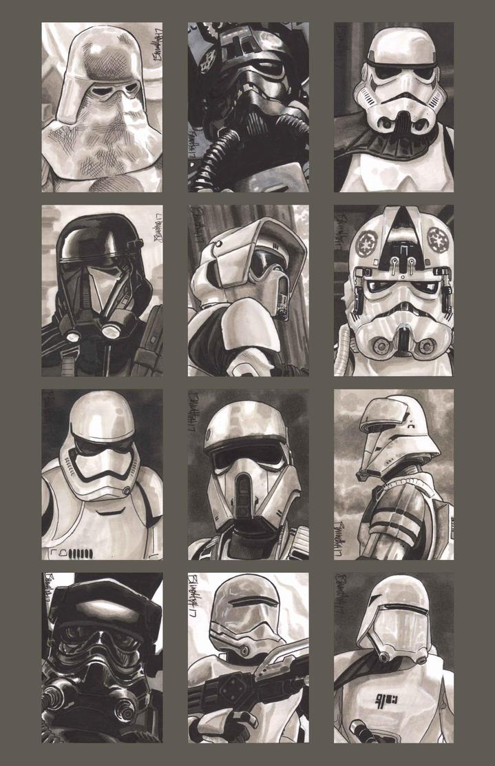 Sketchcards - Imperial Troops by artistjerrybennett