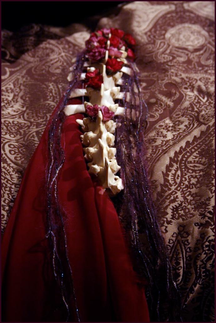 Belly Dance Spine Fascinator by JenniferWeiler