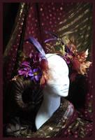 Woodland Nymph Horned Headdress by JenniferWeiler