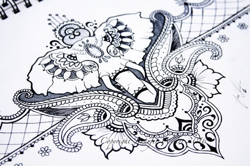 Mehndi And Elephants By JenniferWeiler