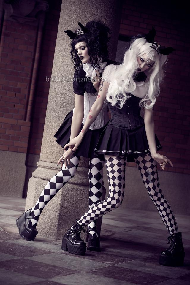 Adora and Victoria - Yin Yang Goth - I by BelindaBartzner