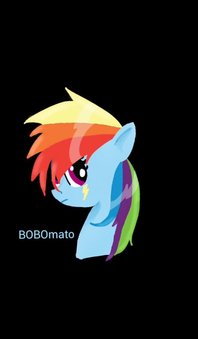 rainbow dash  by BOBOmato