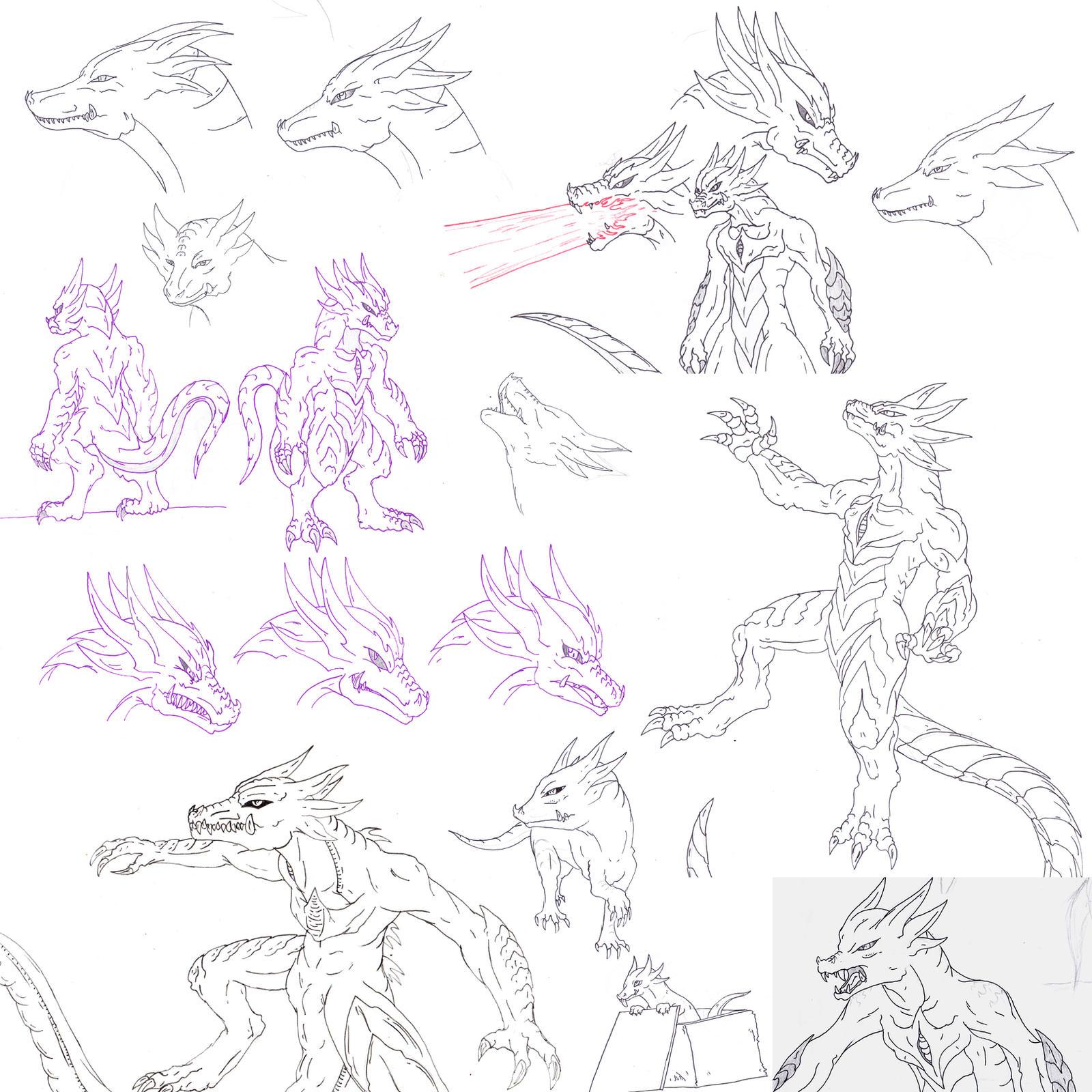 Kaiju: Slierus Sketches by Cyprus-1