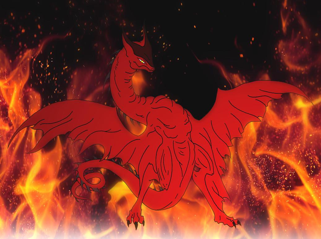 Kaiju: I AM FIRE [Wyvern-Gyaos] by Cyprus-1