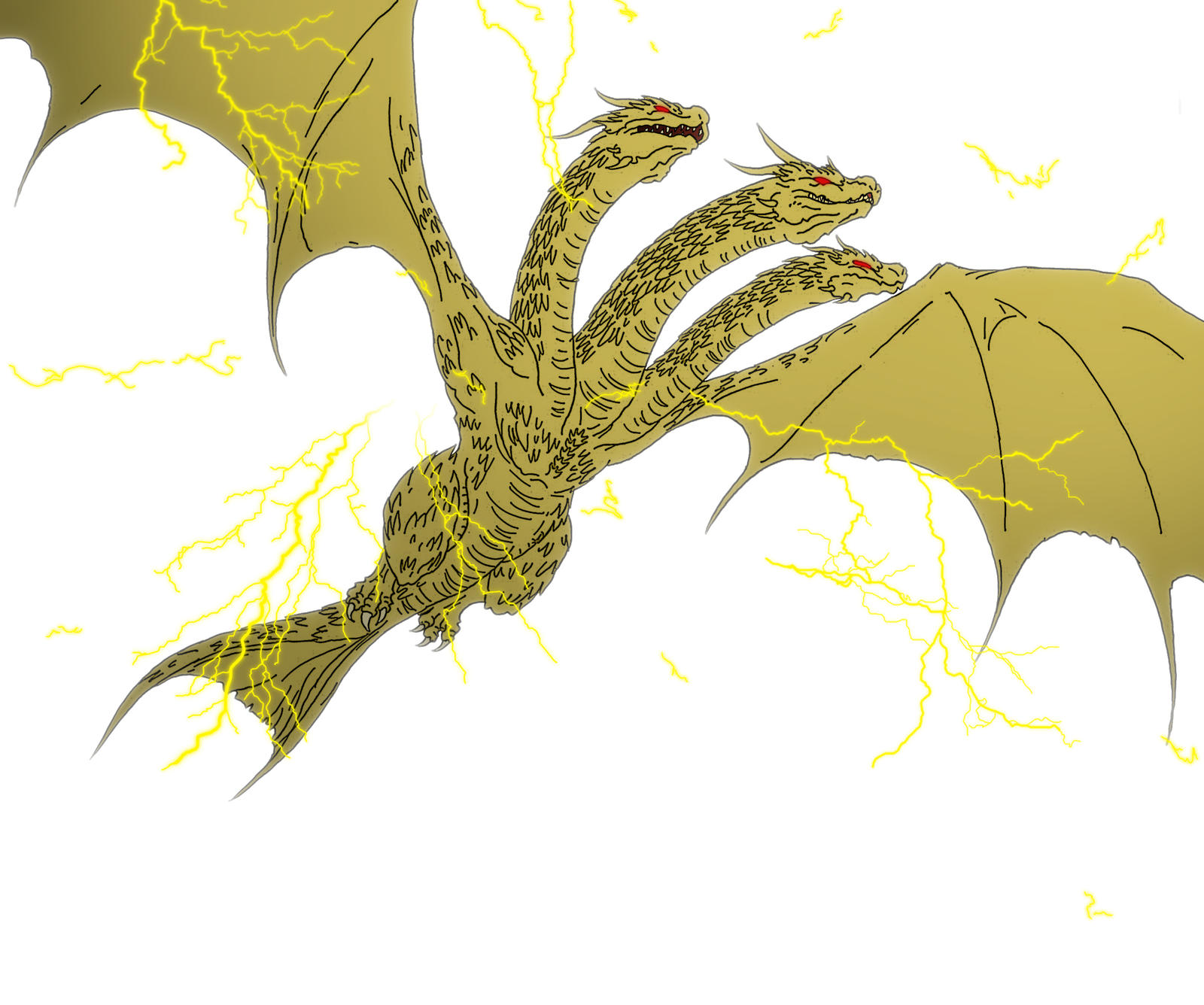 Kaiju: king Of Thunder [king Ghidorah] by Cyprus-1 on ...