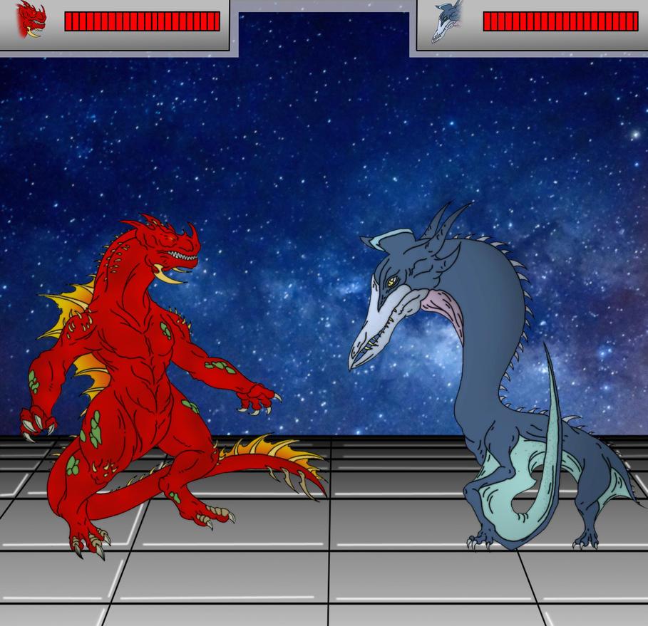 Kaiju: Battle Game [Quetzus vs Tyros] by Cyprus-1