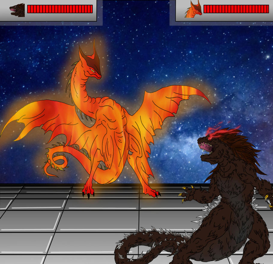 Kaiju: Battle Game II [Wyvern Gyaos vs Scara] by Cyprus-1