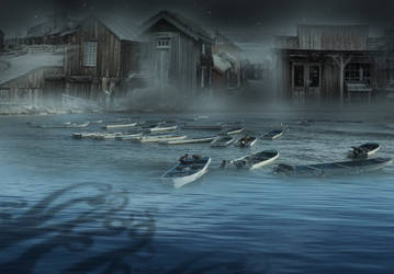 The Cthulhu Mythos: The Shadow Over Innsmouth by Cyprus-1
