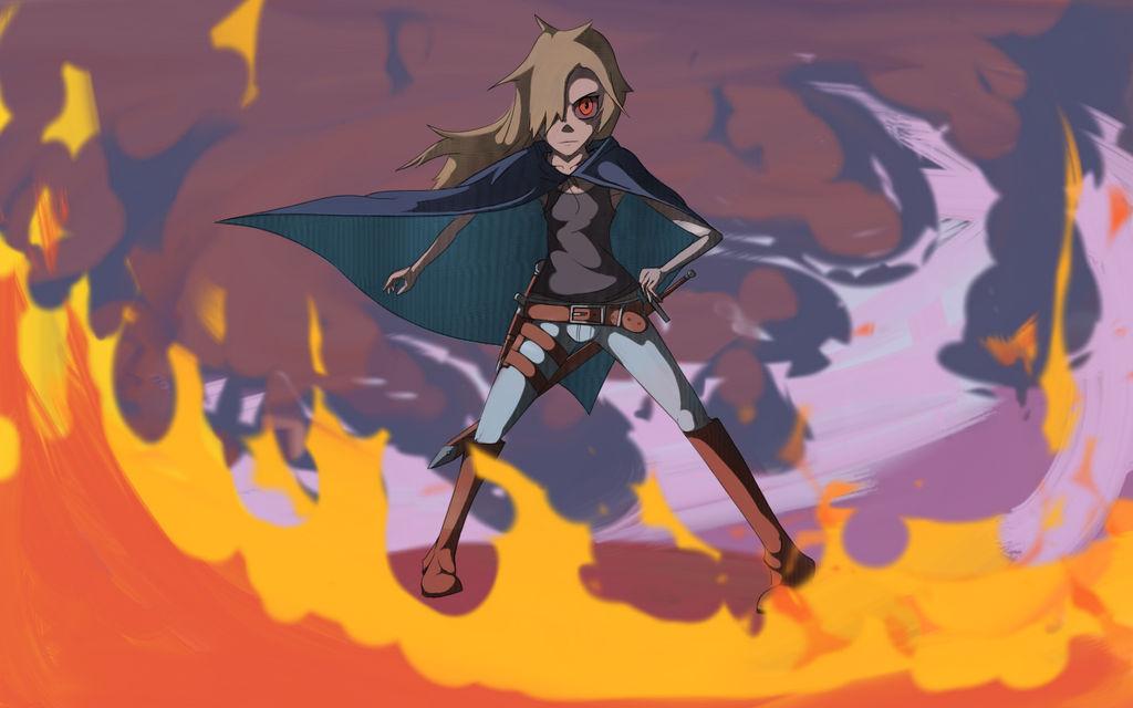 Nessa Izumi: Shadow Hunter OC w/background