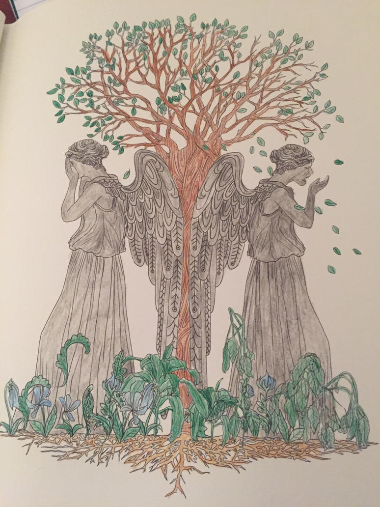 weeping angels doctor who coloring book by syaoranlover5 - Coloring Book Angels