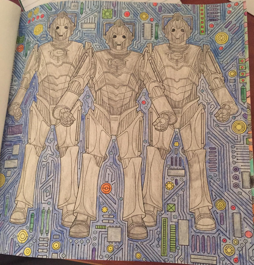 cybermen doctor who coloring book by syaoranlover5 - Doctor Who Coloring Book