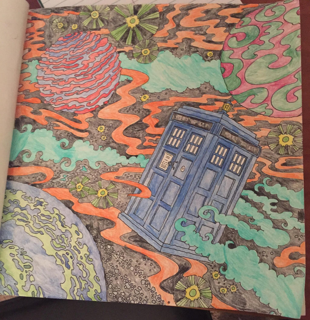 outer space doctor who coloring book by syaoranlover5