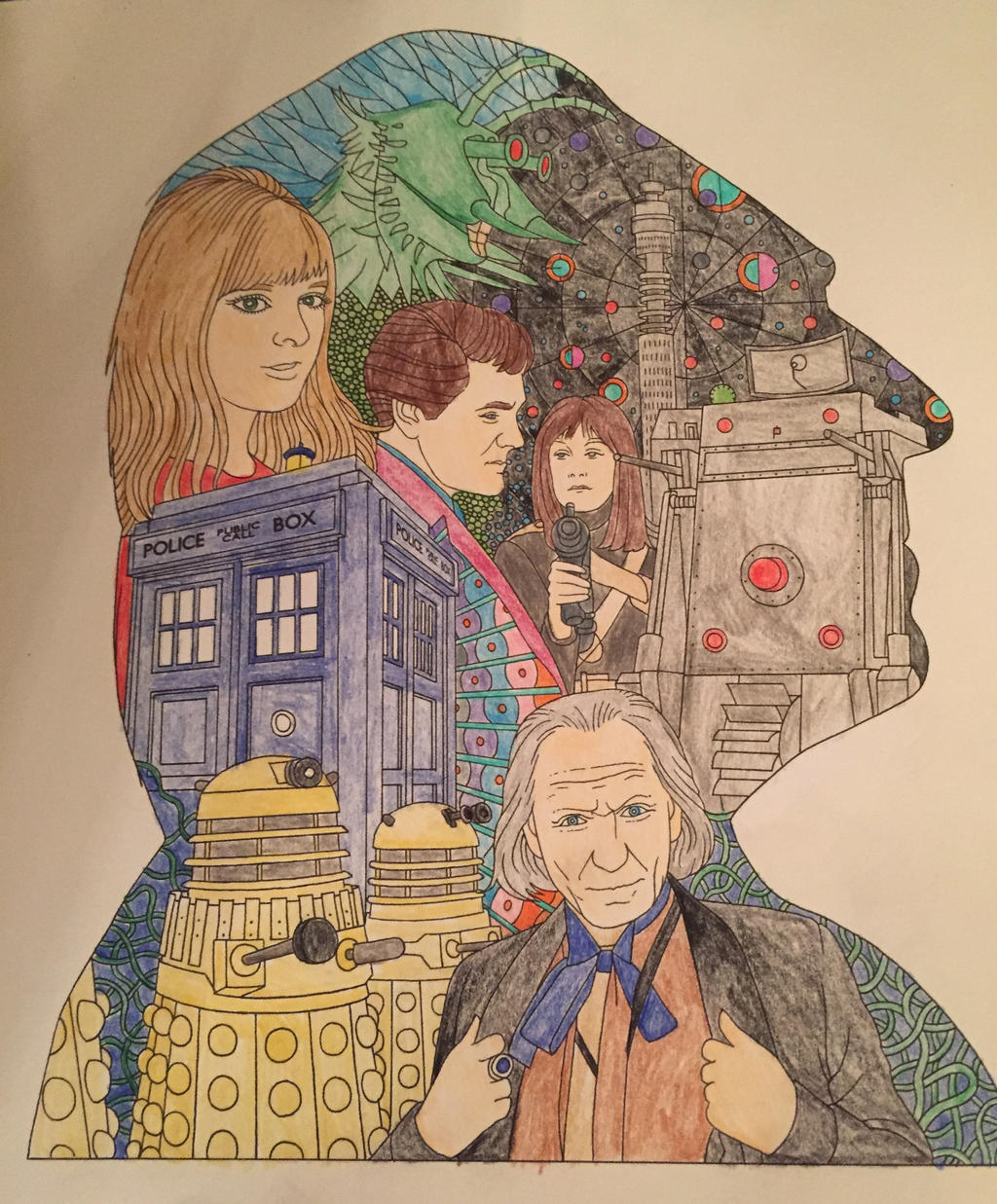First Doctor Who Coloring Book By Syaoranlover5