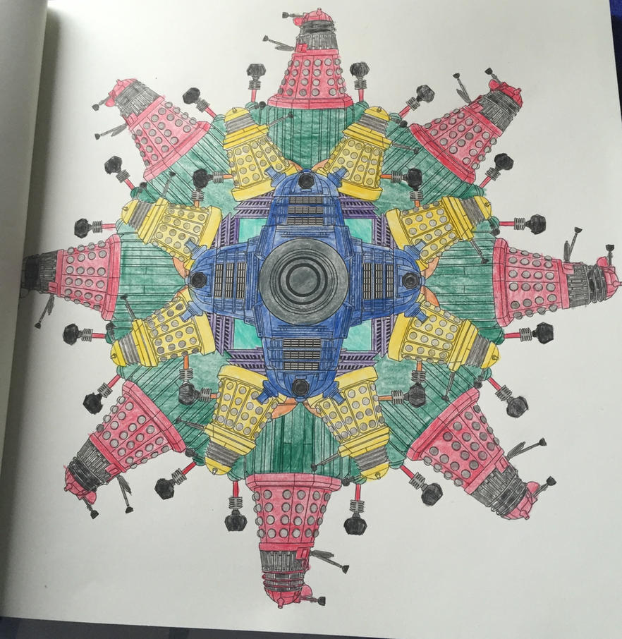 Daleks - Doctor Who Coloring Book by mkayswritings on DeviantArt
