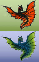 Two Wyverns by Kata