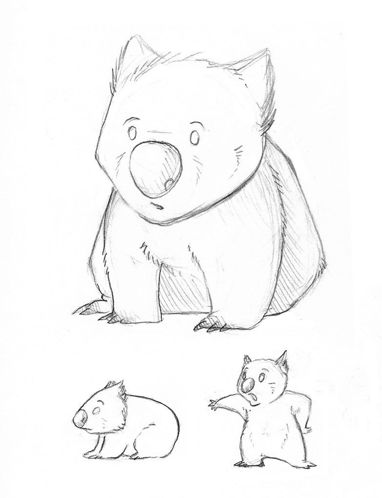 Wombat Drawing Wombat by Kata on Devi...