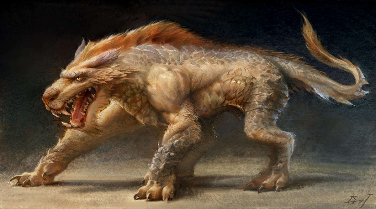 Lizard Skin Wolf by Gworld