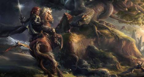 Knight Spirit by Gworld